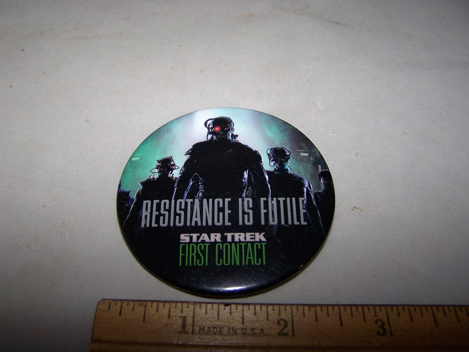 first contact star trek resistance is futile movie promo button