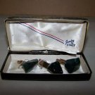 jewelry by stacy cufflinks and tie clip polished stones set very nice