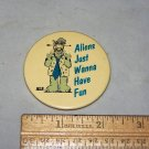 alf aliens just wanna have fun button russ berrie 1987 button