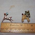 reindeer and burro vintage pins lot