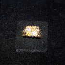 gold nugget style ring with crystals 18k ge mens ring