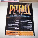 pitfall the mayan adventures video game poster