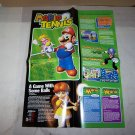 mario tennis poster 2 sided poster