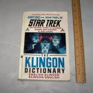 klingon dictionary star trek 1992 book language book