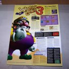 wario land 3 poster strategy guide poster