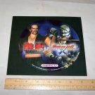 tekken 2 soul blade playstation lid sticker 1996 namco on card