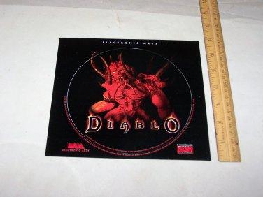 diablo 1998 playstation lid sticker electronic arts sticker