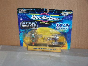 slave 1 and y wing star wars micro machine xray fleet series iv nip 1995 galoob