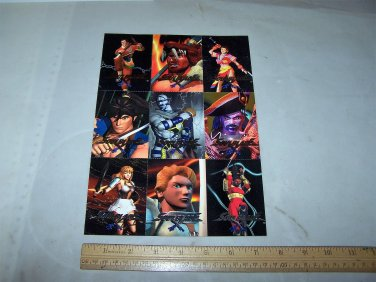 soul blade cards uncut sheet 1996 namco trading cards