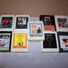 movie soundtracks 8 track tape lot fistful of dollars zhivago fiddler urban cowboy