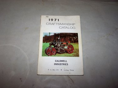 1971 craftsman catalog caldwell industries book