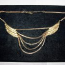 wings chain gold tone necklace