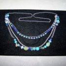 multi chain green bead necklace