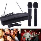Professional Wireless Microphone System Dual Handheld 2 x Mic Receiver