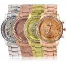 Geneva Bling Crystal Women Girl Unisex Stainless Steel Quartz Wrist Watch HC
