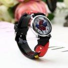 Spider Man Marvel Cartoon Child Boys Kids Analog Quartz Wrist Watch Rubber HC