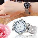 Women Lady Fashion Stainless Steel Mesh Analog Bracelet Wrist Watch HC