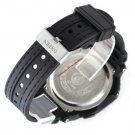 OHSEN Black Waterproof Digital LCD Day Alarm Mens Military Sport Rubber Watch HC