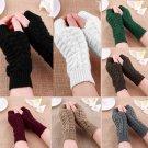 Fashion Unisex Men Women Knitted Fingerless Winter Gloves Soft Warm Mitten HC