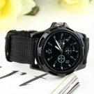 Unisex Men Women Luminous Quartz Wrist Watch Canvas Belt Army Sport Style HC