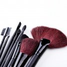 New 32 PCS Professional Makeup Brush Set Kit + Pouch Bag HC