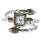 Stylish Gift Lady Women Girl Snake Style Bangle Bracelet Quartz Wrist Watch HC
