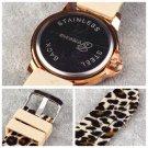 Geneva Casual Womens Fashion Sexy Leopard Jelly Silicone Quartz Wristwatch HC