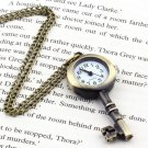 Retro Vintage Pocket Key-shaped Watch Necklace Wall Chart Pendant HC