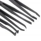Brand New Plastic Heat Resistant Straight Bend Anti-static Tool Tweezer 7pcs HC