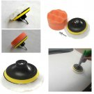 4 inch Polishing Buffer Sponge Pad Set + Drill Adapter For Car Polisher HC