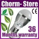 4 x E27 3W High Power LED Globe Ball Light Bulbs Day White HC