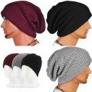 Chic Men Women Warm Winter Knit Ski Beanie Slouchy Oversize Cap Hat Unisex HC