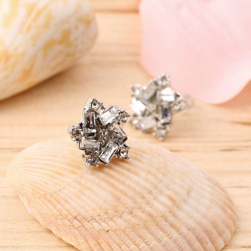 New Fashion Women Lady Elegant Windmill Crystal Rhinestone Ear Stud Earrings HC