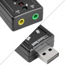 Mini USB 2.0 3D Virtual 12Mbps External 7.1 Channel Audio Sound Card Adapter HC