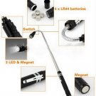 Telescopic Flexible 3 LED Torch Flashlight Magnetic Pick Up Tool Lamp Light HC