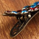 Vintage Womens Colorful Rhinestone Peacock Barrette Hairpin Hair Clip New HC