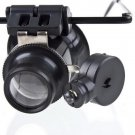 Glasses Type 20X Watch Repair Magnifier with LED Light HC