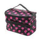 Toiletry Travel Wash Organizer Case Cosmetic Makeup Dot Zip Bag Holder HC