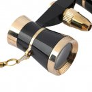 Black Binoculars Opera Theatre 3X25 Glasses Telescope Optics With Chain HC