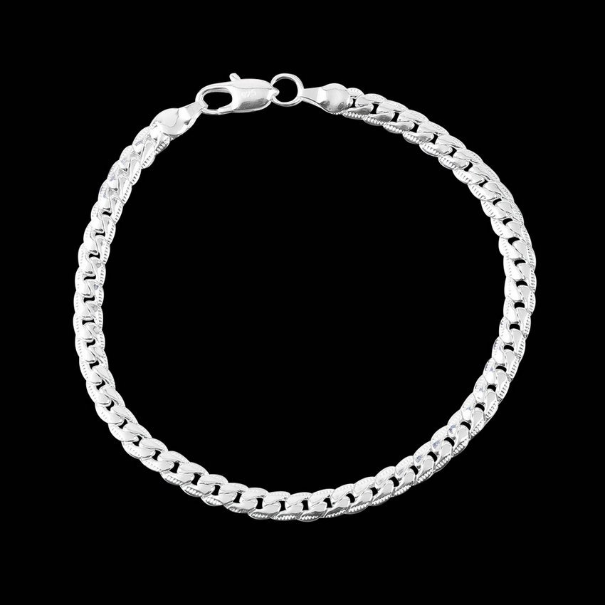 Women Silver Plated On Solid Copper Bracelets Bangle Antiallergic Gift HC