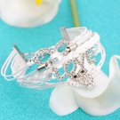 Owl Love Diamond Pearl Leather Friendship Cute Infinity Charming Bracelet HC