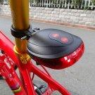 Cycling Bike Rear Tail Safety Warning 5 LED+ 2 Laser Flashing Lamp Light HC