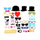 DIY 44PCS Photo Booth Prop Mustache On A Stick For Wedding Birthday Party HC