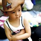 Cute Baby Kids Children Boys Girls Straw Western Cowboy Sun Hat Cap  Gift HC