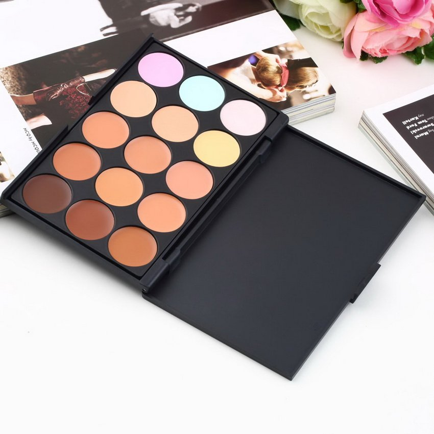 15 Color Pro Makeup Facial Concealer Camouflage Cream Palette Eyeshadow HC