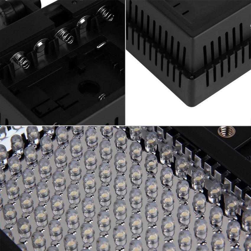 Universal LD-126 LED Video Lighting Lamp for DSLR SLR Camera DV Camcorder HC