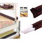 Twin Door Draft Dodger Guard Stopper For Doors Windows Protector Doorstop HC