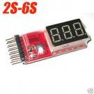 RC Voltage Lipo Battery Meter Tester Indicator 2-6 cells LED Panel Voltmeter HC
