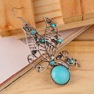 Vintage Ethnic Style Turquoise Unique Butterfly Shape Earing Stud Gift HC