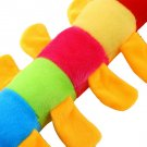 Colorful Inchworm Soft Lovely Caterpillar Pillow Plush Developmental Baby Toy HC